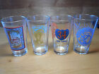 """NEW BELGIUM BREWERY Ft Collins CO Set of 4 Beer Glasses 5 7/8"""" 4 designs"""