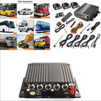 4CH Vehicles DVR 4G Wireless GPS Antenna Video Recorder+Remote+4*HD Cameras 12V