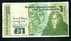 Ireland (P70c) 1 Pound 1987
