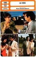 FICHE CINEMA : LA VOIX - Baye,Frey,Morante,Granier-Deferre 1992 The Voice