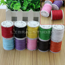 10x Mixed Colors Waxed Cotton Cord Strings For Macrame Jewelry Beads DIY Making