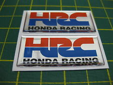 2 Domed HRC stickers On Chrome Vinyl 50mm x 21mm All Models