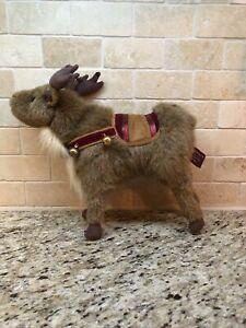 "Bearington Collection Bell V. Deer Stuffed Christmas Reindeer #1570 11"" (2005)"