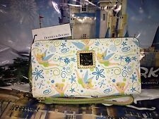 Disney Dooney & and Bourke Tinkerbell Disneyland Zip Wallet Half Marathon White