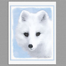 6 Arctic Fox Animal Blank Art Note Greeting Cards