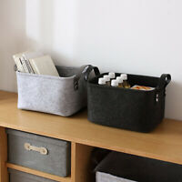 Felt Cloth Storage Basket Storing Laundry Basket Bag Towel Clothes Storage Box