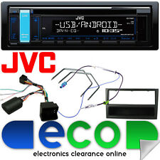Vauxhall Corsa C JVC STEREO AUTO CD MP3 USB VOLANTE Interfaccia Kit Nero