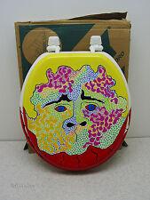 Toilet Seat Face  T. C. Murphy Irish Painted Lid Teeth Commode Art Deco Bathroom