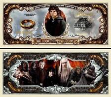 Le SEIGNEUR des ANNEAUX BILLET 1 MILLION DOLLAR US ! Collection Tolkien Gandalf