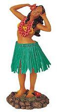 New Hawaiian Hawaii Dashboard Hula Doll Dancer Singing Girl Green # 40622