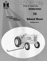 IH FARMALL 110  Balanced Sickle Mower Operators Maintenance Lubrication manual