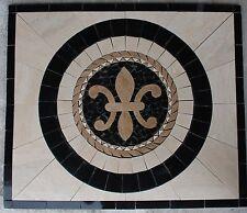 "Marble Travertine Tile Medallion mosaic  Stone 32"" x 32""  #63a"
