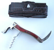 LAGUIOLE Red Stablewood Waiters Knife Corkscrew Wine Sommelier New NO BOX