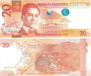 A   SAISIR     BILLET  20  PISO   PHILIPPINES  2011      !!!!    NEUF  .   UNC