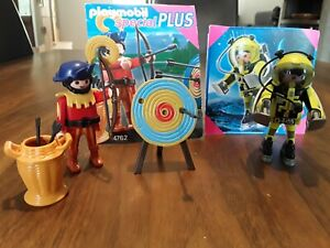 Playmobil 2 x special 4762 / 4747 Bogenschütze, Astronaut, wie NEU, Sammlungsauf