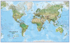 World Physical Megamap 1:20, Wall Map Giant Poster Print, 77x48 World Map