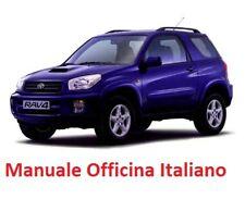 TOYOTA RAV4 2° Serie XA20 (2000/2006)  Manuale Officina Riparazione ITALIANO