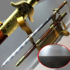 Weapon Tai-chi sword Traditional Hand Forged pattern steel blade sharp #2021