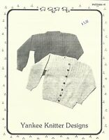 Mock Cable Pullover Cardigan Sweater Knitting Pattern Yankee Knitter #8