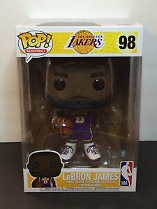 "Funko Pop Los Angeles Lakers Lebron James #98 (Purple Jersey) 10"" Free Shipping"