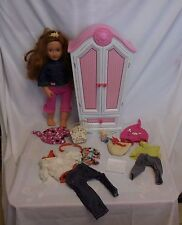 """Our Generation Doll Armoire Closet + 18"""" Our Generation Doll + Clothes + Accesso"""