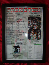 MK Dons League One runners-up 2015 - framed print