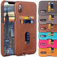 Cuir De Luxe étui pour iPhone 6s Porte Carte Crédit arrière 8 7 6 Plus X