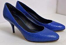 EUC Giuseppe Zanotti for Barneys Women's Size EU 36 US 5 1/2 Blue Leather Pumps