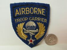 Vtg. WWII US Army Air Force Airborne Troop Carrier English Theater Made Patch
