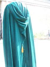 Green Velveteen & Satin Victorian Renaissance LOTR Medieval Costume Cape  L