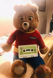 Teddy Ruxpin Bear W/ Cassette Player Toy Stuffed Animal 1998 UNTESTED No Back