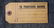 1949 The Pennsylvania Railroad Luggage Tag Unused