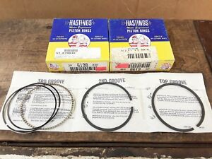 """Moly Piston Rings Set 0.010/"""" Over Hastings 2M6127010"""