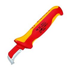 Knipex Cable Dismantling Knife Guide Shoe Surgical Steel 1000V Insulated 9855Sb