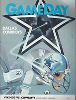 Minnesota Vikings vs Dallas Cowboys 1983 football program Tony Dorsett 99yd run