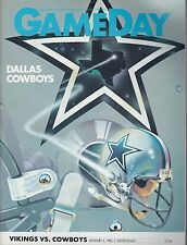 Minnesota Vikings vs Dallas Cowboys 1983 football program Tony Dorsett 99yd run