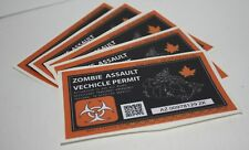 "6 Pack ""Zombie Assault Vehicle Permit"""