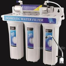 UV Sterilizer Drinking Water Filter System Ultraviolet Light Under Sink Purifier