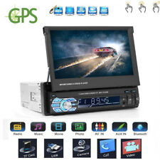 "HD 7"" 1 DIN Bluetooth Car GPS MP3 MP5 Player FM/AM Radio USB/TF AUX Touch Screen"