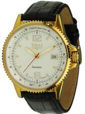 TRIAS Uhren Unisex Automatikuhr Datumanzeige Ø 44mm Edelstahl IP gold