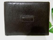 Missoni Dark Brown Textured Leather Bifold Men's Wallet NEW