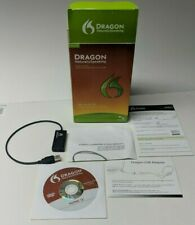 Nuance Dragon Naturally Speaking Home 12 CD, Serial, Adapter, and Box
