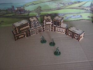 20mm x9 Shipping Freight Container Wargame Scenery Sci Fi Modern Laser Cut MDF