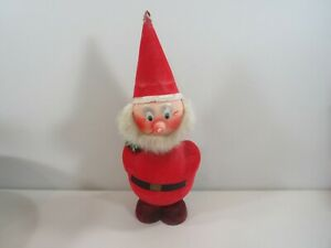 """Old Germany Putz Cardboard 14""""h Santa Claus Bobble Head Nodder Candy Container"""