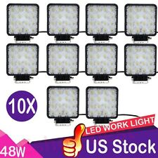 10X 48W LED Work FLOOD Light OffRoad 12v/24v Truck 4WD Boat SUV JEEP tractor