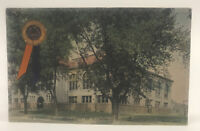 Vintage 1912 Hand Colored University Of Illinois Postcard Of The Gymnasium.
