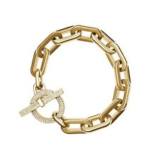 Michael Kors Women's City Scape Heavy Link Chain Pave Toggle Bracelet MKJ4865791
