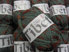 10 x 50 GRMS TIBET SUPER CHUNKY WITH WOOL  BY STYLECRAFT # BARK