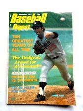 SEPTEMBER 1974 BASEBALL DIGEST TOMMY JOHN ON COVER