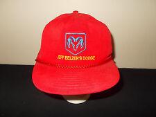 VTG-1990s Dodge Ram Logo Jeff Belzer's Dealer rope trucks snapback hat sku31